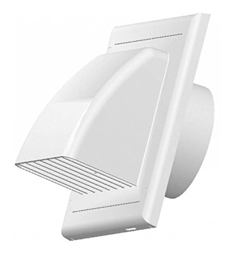 Access Panels UK - Rejilla de ventilación (125 mm, compuertas de gravedad), color blanco