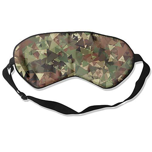100% Silk Sleep Mask Eye Mask Camouflage Print Soft Eyeshade Blindfold With Adjustable Strap For Men Women And Kids For Sleeping Travel Work Naps Blocks Light
