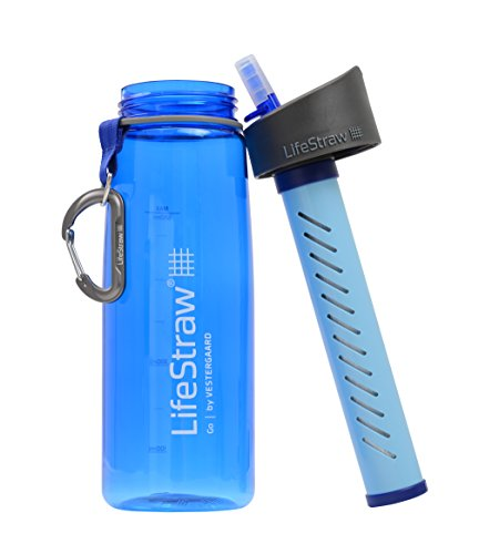 A photograph of LifeStraw Go 0.65L