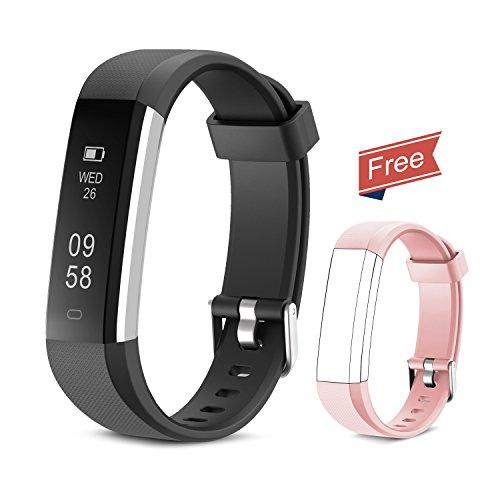Fitness Tracker Yuanguo Orologio Fitness Bracciali Contapassi Pedometro Calorie Distanza Sonno Impermeabile IP67 Activity Tracker Sport Smart Watch per Uomo Donna (Nero)