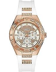 Guess Damen-Armbanduhr Analog Quarz Kautschuk W0653L4