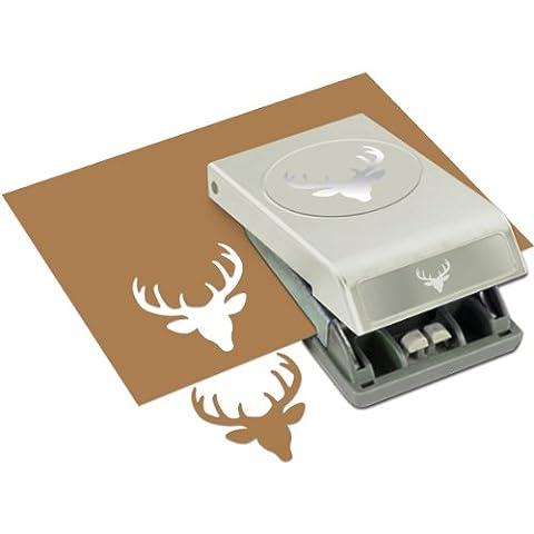 Maße EK Success Deer Head Punch groß (Ek Success Border Punches)