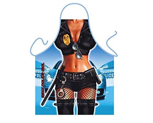 Police Sexy Female Kostüm - Funny Kitchen Schürzen Novelty Rude Sexy Grillschürze Freches Geschenk, multi, SEXY POLICE WOMAN