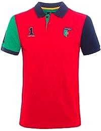 Hackett Hombres Classic Fit Polo de Portugal Rojo