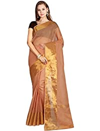 CLASSICATE From the house of The Chennai Silks Women's Venkatagiri Cotton Saree with Blouse Piece (Hazel Brown, CCOPSC8593)