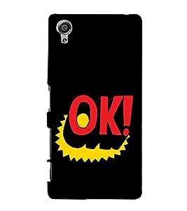 Fuson Designer Back Case Cover for Sony Xperia X :: Sony Xperia X Dual F5122 (Ok Clipart design :: Approved design :: Status design :: Cool design :: All right design :: Awesome design)