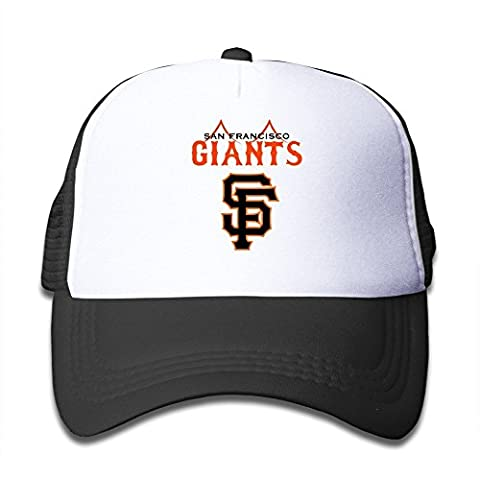 XCarmen Cool San Francisco Giants Kids Baseball Trucker Caps Hat Boys Girls Adjustable One Size By JE9WZ Black