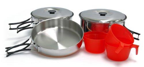 Chinook Ridgeline 8 Piece Stainless Steel Trio Cookset 3 Piece Cookset