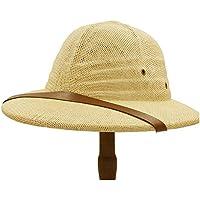 LQ-LIMAO Sombrero de Copa, - Bombín, Gorra De Guerra De Vietnam De Moda, Sombrero De Paja De Explorador For Hombres, Gorra De Minero De Jungla De Sol De Verano (Color : Yellow, tamaño : 56-58CM)
