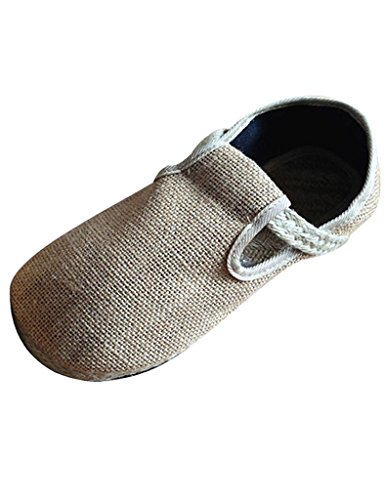 Youlee Femmes Tisser Paille Chaussures Couple Flats Shoes Beige