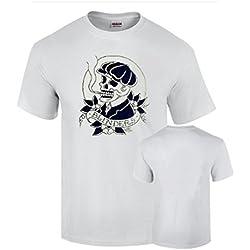 Camiseta Peaky Blinders Tradicional Vintage Tatoo Shelby Blanca (L)