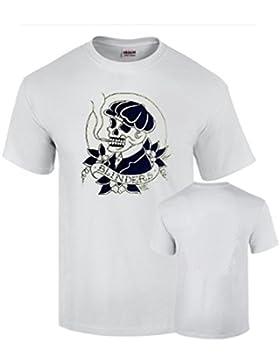 Camiseta Peaky Blinders Tradicional Vintage Tatoo Shelby Blanca