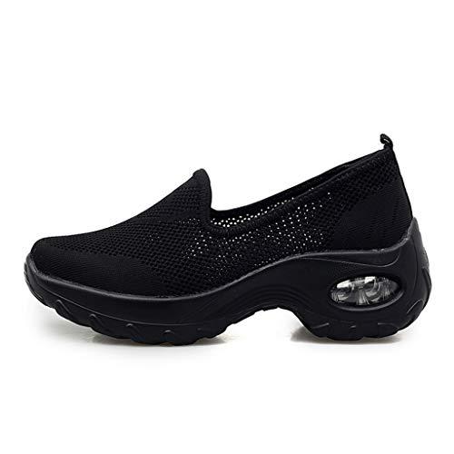 POLPqeD Sneakers con Scarpe da Donna Fashion Casual Solid Sport Breathable Leggere Traspiranti Comode in Rete per Tennis Palestra Corsa