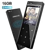 AIMIUVEI Reproductor MP3 16GB, Reproductor de Música Deporte Bluetooth 4.1 con Altavoz Incorporado,...