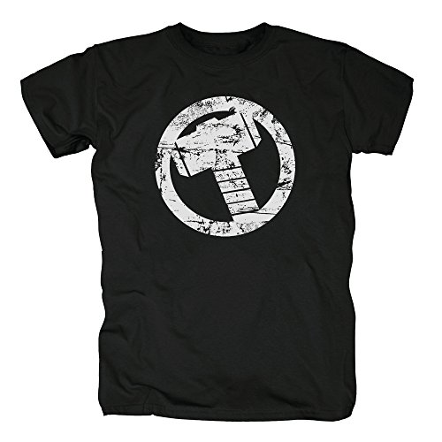 TSP Thor Hammer T-Shirt Herren XXXL Schwarz (Thor Herren Kostüm)