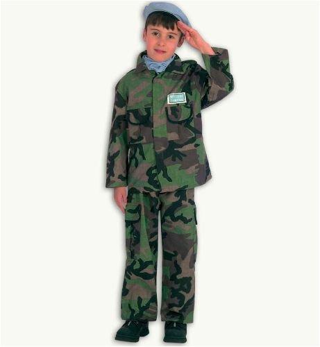 pfer Militär Soldat 2tlg m Halstuch u Mütze Kinder Kostüm Gr 128 (Dschungel Kämpfer Kind Kostüme)
