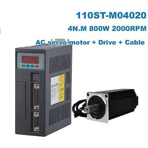GOWE AC & sistema motore Servo DRIVER 4N. M 800W 2000RPM 110ST M04020 110ST AC-Servo motore