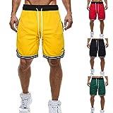 OGGI-Pantaloncini Bermuda Cargo da Uomo Ottimo Traspiranti Shorts da Uomo Semplice Pantaloni da Spiaggia Casuali Beach Shorts Loose Bodybuilding Pantaloncini Sportivo Shorts