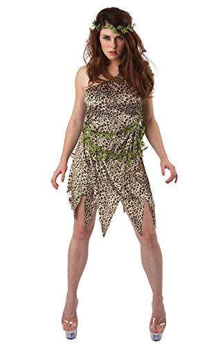 Erwachsene Damen Jane im Dschungel Kostüm Karneval Verkleidung Small (Jane Und Tarzan Kostüm)