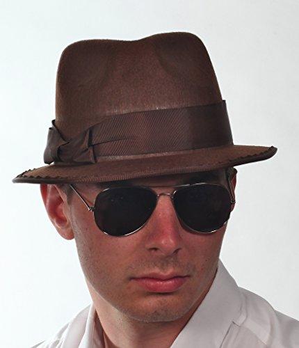 Indiana Jones braun Tilbury Party-Hut Mütze Top braun (Captian Hat)
