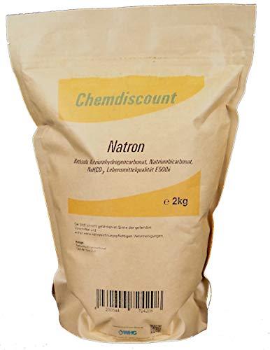 2kg Natron im Kraftpapier-Standbodenbeutel (wiederverschließbar), versandkostenfrei, Lebensmittelqualität