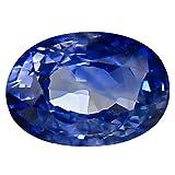 Pietra preziosa allentata con zaffiro blu naturale al 100% Ceylon blu da 1,24 ct (7 x 5 mm)