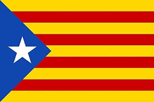 DURABOL Bandera de Inde.Catalan Estelada blava-catalunya -cataluña independentista 150 x 90 cm Poliester Flag