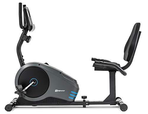 Vélo d'appartement semi-allongé HS-040L ROOT vélo assis Hop-Sport max 120 kg (Bleu)