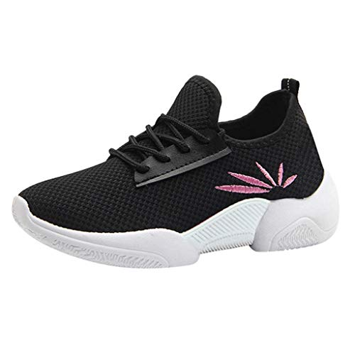 BHYDRY Sneaker Donna Casual Antiscivolo Sport Walking Sneakers Mocassini Scarpe morbide(40 EU,Nero)