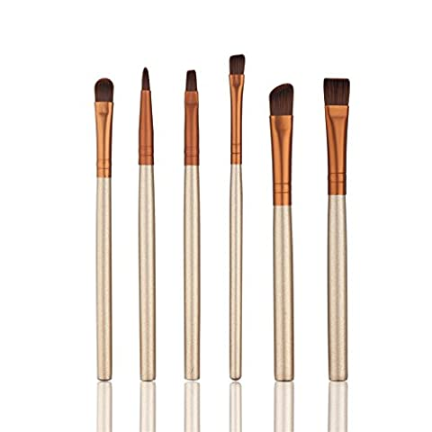 HimanJie Makeup Brushes, Professional 6 Pieces Makeup Brush Set Makeup Cosmetics Brushes Set Professional Eyes Makeup Brush(Features Powder, Concealer, Contour, Foundation, Blending, Eyebrows, and Eye Liner Brushes)