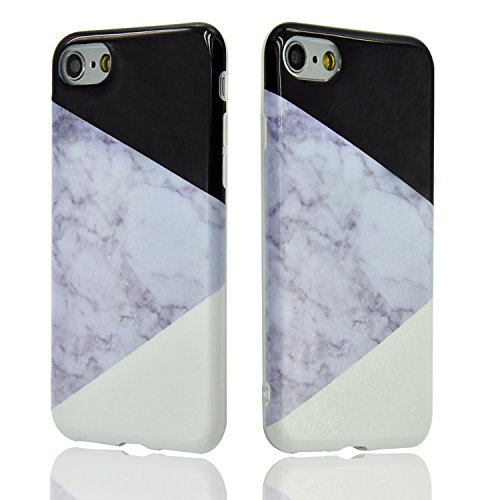"Coque pour iPhone 6 Plus 5.5"", Sunroyal® Coque Etui Housse iPhone 6s Plus Motif Marbre TPU Silicone Doux Case Ultra Mince Souple Marble Effect Back Cover Couvrir Skin Portable de Protection Shock Abso Marbre 51"