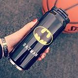 H-Y-HOME Coupe d'eau pour véhicules Sportifs Trend Cup en Acier Inoxydable Batman 500ml...