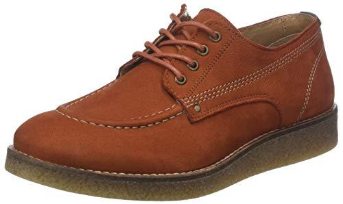 Kickers Zeland, Zapatos de Cordones Derby para Mujer, Naranja Orange Rouille 173, 37 EU