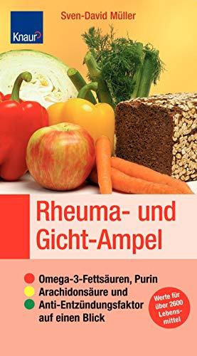 Rheuma- und Gicht-Ampel: Omega-3-Fettsäuren, Purin, Arachidonsäure und Anti-Entzündungsfaktor auf einen Blick; Sticker: Werte für über 2600 Lebensmittel -