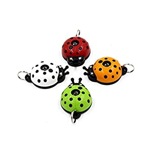 2018 Best Safe Ultrasonic Electronic Tick, flea and mosquito repellent and pest prevention control, multicolour collar ladybug pendant for dogs, cats, puppies and other pets – 10 months pest repeller, No Odor, LED Indication, Non Toxic 6