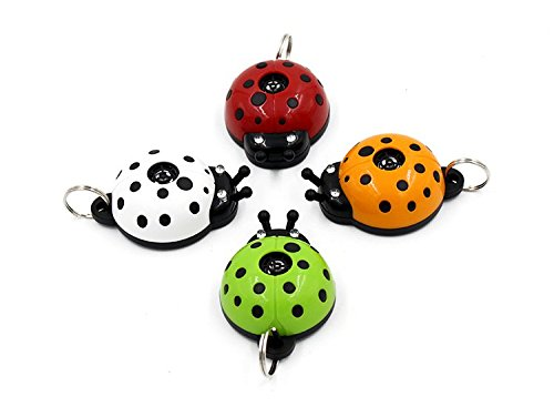 2018 Best Safe Ultrasonic Electronic Tick, flea and mosquito repellent and pest prevention control, multicolour collar ladybug pendant for dogs, cats, puppies and other pets - 10 months pest repeller, No Odor, LED Indication, Non Toxic 1
