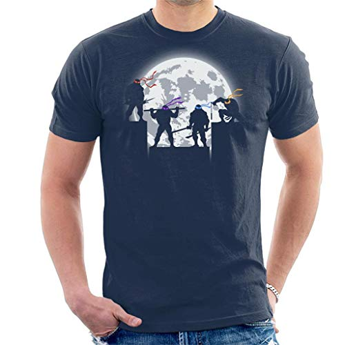 Teenage Mutant Ninja Turtles Night Shadows Silhouette Men's T-Shirt
