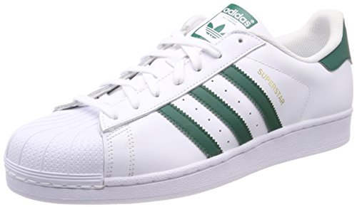 adidas Superstar, Zapatillas para Hombre, Blanco Collegiate Green/Footwear White 0, 36 EU