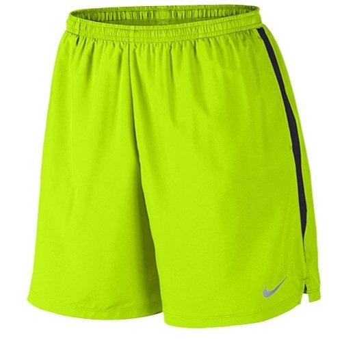 Nike Mens 7 Challenger Running Shorts (Volt/SCHWARZ//REFLEKTIERENDE SILV, X-Large) (Nike Neuheit)