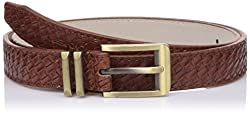 Lino Perros Womens Belt (LWBE00451BROWN_95)