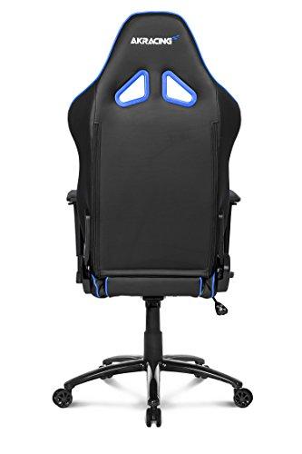 AKRACING AK-Overture-BL – Silla (Upholstered Padded Seat, Respaldo Acolchado, Negro, Azul, Gris, Negro, Azul, Gris, Negro, Cuero PU)