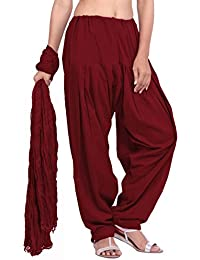 Jaipur Kurti Pure Cotton Maroon Patiala Salwar And Dupatta Set