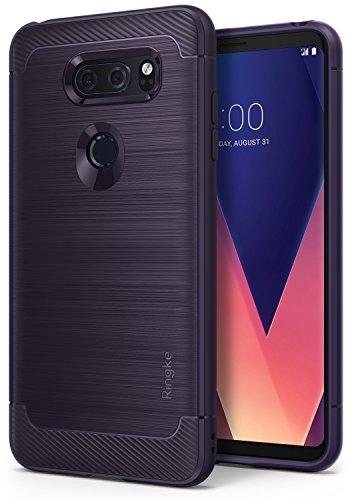 Ringke LG V30, LG V30 Plus, LG V30S ThinQ Hülle, Onyx [Starker Schutz] Panzer Handyhülle Case TPU Schutzhülle für LG V 30, V 30 Plus, V 30 S ThinQ Cover- Plum Violet