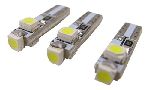 3 x T5 Bulb 1210 LED SMD White Speedometer Instrument Fittings Lighting