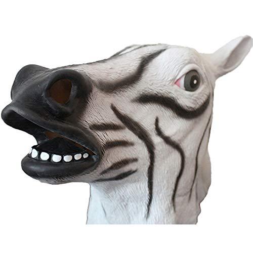 QQWE Pferdekopf Maske Halloween Kopf Cosplay Maskerade Show Thema Party Kostüm Prop Latex Kopfbedeckungen,C-OneSize