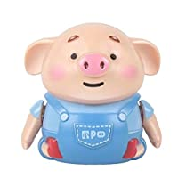 Lalaoo Educational Pen Inductive Toy, Automatic Induction Marking Pen Pig Christmas Toy Follow Drawn Line Pen Pig Toys Scribing Induction Pig Light Music Education Toy Magic Inductive Robot