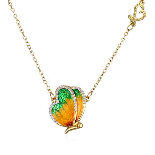 aimaoer Butterfly Wings Simple And Beautifully Embroidered Oil Necklace Love Clavicle Chain Student Jewelry, Figure 2