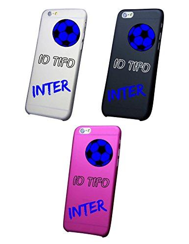 Cover IPHONE X-8-8PLUS 6 - 6 PLUS - 6S - 6S plus - 7 - 7 plus - IO TIFO INTER Trasparente VARI COLORI UltraSottili AntiGraffio Antiurto Case Custodia Bianco