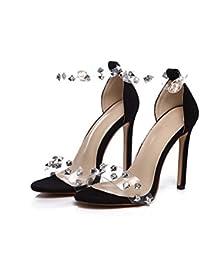 d73bc2b20890 Scarpe da donna di grandi dimensioni scarpe da 11 cm Sandali con cinturini  alla caviglia con cinturino alla caviglia Scarpe eleganti Open…
