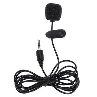Professionelle Mikrofon Kunststoff schwarz strapazierfähigem Clip auf mini Mikrofon 3,5mm Stecker für MP3Handy Tablet